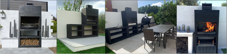 Modern Cast Stone Barbecues Grill