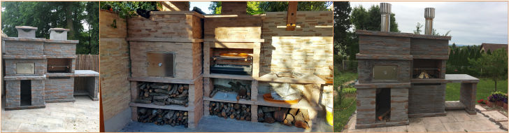 Cast Stone Barbecue with oven and sink